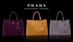 PRADA: Shop our fall event @Saks Fifth Avenue Prada Fall Event - Saks.com The Prada Fall Shoe & Handbag Collection.