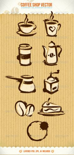 Coffee Shop Vector Creative Design Elements - Food Objects $5. Might be worth it if we really like these