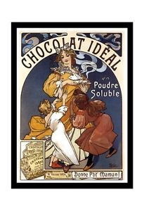 vintage chocolat ideal poster - Google Search