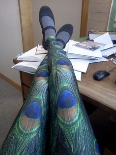 Peacock leggings:)