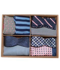 The Pink and Navy Bow Tie Style Box (#GS021), $89 at www.TheTieBar.com