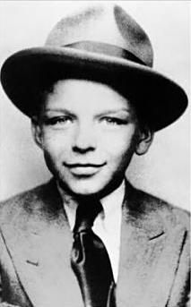 frank sinatra - even at this young age he had a look that said he could call a hit in on you at anytime ...