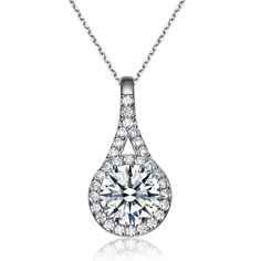 MSRP: $139.99    Our Price: $89.99    Savings: $50.00         Item Number: PEN7003     Availability: Usually Ships in 5 Business Days         Product Description:    A graceful array of twinkling CZ's makes this a brilliant and elegant piece. This pendant features round-cut CZ's and is fashioned from sterling silver.It comes with an 18 inch chain and has a spring ring closure.         Features:      	Crafted in Sterling Silver  	Brilliant Machine Cut Cubic Zirconia   	Contemporary Halo…