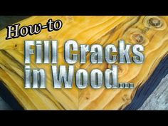 How-to Fill Cracks in Wood Live with Mitchell Dillman Woodworking Finishes, Woodworking Tips, Furniture Restoration, Wood Projects, Dyi, Restoring Furniture, It Is Finished, Flooring, Youtube