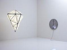 Zooid Diamond Pendant with Video Art Lamp #light #art
