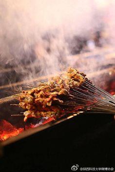 . Beijing Food, Good Food, Yummy Food, Gula, Chicken Satay, Dehydrated Food, Barbecue Recipes, Street Food, Food Styling