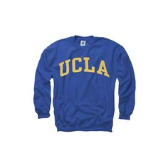 UCLA Bruins Royal Arch Crewneck Sweatshirt ($4.99) ❤ liked on Polyvore featuring tops, hoodies, sweatshirts, shirts, sweaters, blue sweatshirt, crew neck sweatshirts, crew neck top, crew-neck shirts and crewneck sweatshirt