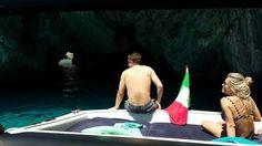 Lovely swim inside Green grotto in Capri.  www.amalficharter.it