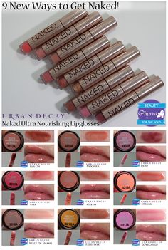 The new Urban Decay Naked Ultra Nourishing Lipglosses! via @Phyrra #crueltyfree #vegan #beauty