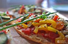 Fladenbrot-Pizza mit Sommergemüse - Madame Cuisine