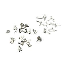 Wholesale 10* Silver Tone Business Suit Trousers Sewing Metal Hook Buttons 20 Pcs