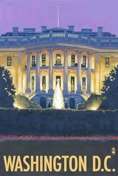 White House - Washington DC - Lantern Press Original Poster