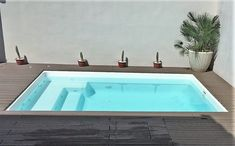 Ideas for house plans a frame decks Small Backyard Pools, Small Pools, Swimming Pools Backyard, Backyard Patio, Backyard Landscaping, Pool Spa, Mini Swimming Pool, Luxury Swimming Pools, Mini Pool