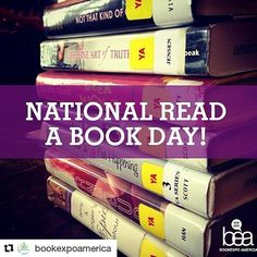 #Repost @bookexpoamerica with @repostapp  Today is National #ReadABookDay!  Were encouraging you to grab a book and spend some of your day reading!  #BookExpo