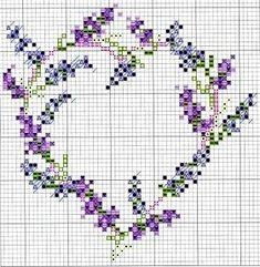 cross stitch lavande