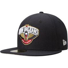 New Orleans Pelicans New Era Current Logo 59FIFTY Fitted Hat – Navy Blue