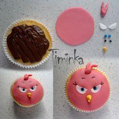 popis myslím není nutný, je to jednoduché, snad i přes to někomu pomůže :-* Angry Birds, Cupcakes, Sugar, Cookies, Desserts, Food, Crack Crackers, Tailgate Desserts, Cupcake Cakes
