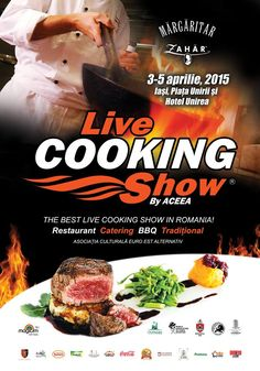 Live cooking Show – Cel mai mare spectacol de gatit din Romania Snack Recipes, Snacks, Catering, Bbq, Chips, Restaurant, Meat, Cooking, Logo