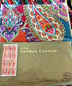 1 Shower Curtain - 5 Easy Projects!