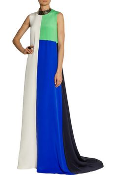 Roksanda   Hepworth color-block silk gown   NET-A-PORTER.COM