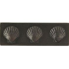 Shell Dark Bronze Accent Tiles (Set of 4)
