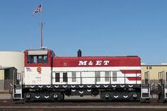 Modesto Empire and Traction 602 shown at Modesto, California.  Now in Saskatchewan shuffling grain cars for Mobil Grain.