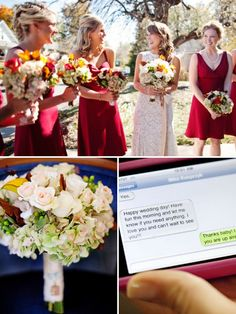 perfect for fall weddings -- i just really like his text to her <3