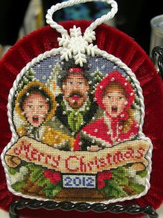 """Blackberry Lane designs: Here's the 2012 ornament,""""The Carolers."""""""