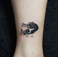 Small Cats Tattoo by Sol Art