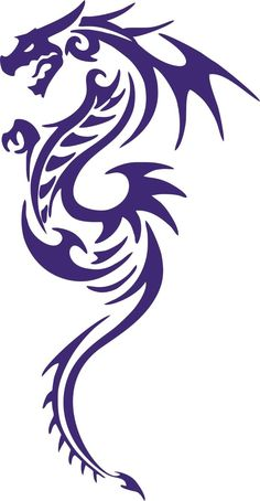 Tribal Dragon Serpent Tail Creature Car Truck Window Laptop Vinyl Decal Sticker (With images) Tribal Dragon Tattoos, Small Dragon Tattoos, Dragon Tattoo Designs, Celtic Dragon Tattoos, Arte Tribal, Tribal Art, Molecule Tattoo, Dragon Sketch, Dragon Design