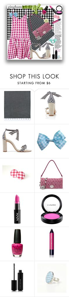 """""""Gingham"""" by marionmeyer ❤ liked on Polyvore featuring Alexandre Birman, Miu Miu, NYX, MAC Cosmetics, Bobbi Brown Cosmetics, Marc Jacobs, Materia Prima, J.Crew and gingham"""