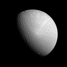 The image of Saturn's moon Dione was taken in visible light with the Cassini spacecraft narrow-angle camera on Dec. 23, 2012. The view was obtained at a distance of approximately 153,000 miles (246,000 kilometers) from Dione. Image scale is 0.9 miles (1.5 kilometers) per pixel.    Credit: NASA/JPL-Caltech/Space Science Institute