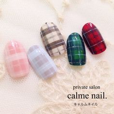 You don't need to choose the same nail art patterns over and over again. Plaid Nail Designs, Winter Nail Designs, Winter Nail Art, Gel Nail Designs, Winter Nails, Pedicure Nail Art, Gel Nail Art, Love Nails, Pretty Nails