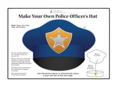 Your child can make their own police officer's hat with this craft template.