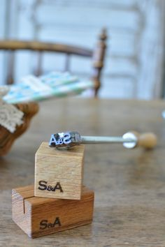 Wood name card stand, with branding iron. Breakfast Egg Muffins Cups, Egg Muffin Cups, Wood Names, Branding Iron, Name Cards, Stationery, Place Card Holders, Packaging, Graphics