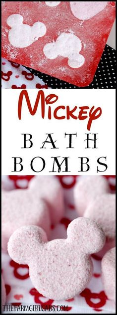 Mickey Mouse Bath Bombs is part of Disney DIY crafts - Hey Disney Fans These Mickey Mouse Bath Bombs are the perfect way to relax, unwind and think about your next trip to Walt Disney World Diy Spa, Walt Disney World, Do It Yourself Baby, Do It Yourself Fashion, Mickey Mouse, Disney Mickey, Disney Bows, Disney Nails, Homemade Gifts