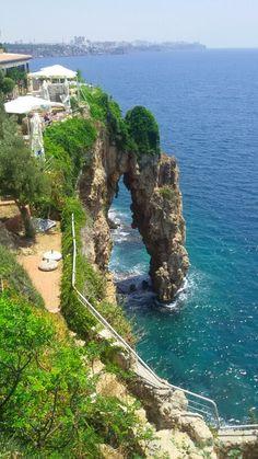 Antalya coast, an interesting rock