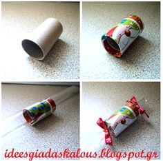 Χριστουγεννιάτικη καραμέλα! Xmas, Christmas, Napkin Rings, Party, Winter Ideas, Crafts, Diy, Craft Ideas, School