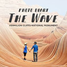We're so excited to finally share our Wave photos! The Wave is a sandstone formation in Coyote Buttes North part of the Vermilion Cliffs National Monument The Wave Permit, Coyote Buttes North, Las Vegas World, Visit Usa, Photo Diary, Road Trip Usa, Travel Usa, Adventure Travel, Places To Travel