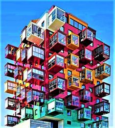 Apartment building concept 20 Ideas for 2019 Unusual Buildings, Colourful Buildings, Interesting Buildings, Amazing Buildings, Futuristic Architecture, Beautiful Architecture, Art And Architecture, Pavilion Architecture, Commercial Architecture
