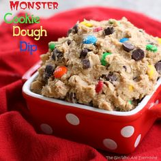 monster cookie dough dip  I think I might need to make this for the next bunco!