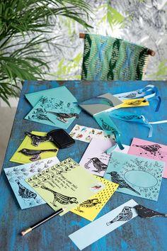 Créer des tampons pour décorer vos papiers à lettres