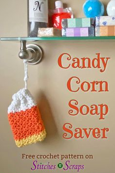 Put your favorite bar of soap in this colorful soap saver. It has a gentle washcloth texture and lets you use up every last bit of that special soap. It also makes a great treat bag for Halloween! #soapsaver #treatbag #halloween #navishandmade #crochet #crochetpattern #freepattern #ScrappyStitchersStashBash #stitchesnscraps Crochet Round, Crochet Home, Double Crochet, Free Crochet, Holiday Crochet, Halloween Crochet Patterns, Easy Crochet Patterns, Crochet Designs, Crochet Ideas