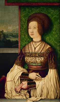 Bernhard Strigel: Bianca Maria Sforza, zweite Frau Kaiser Maximilians I. (1472-1510). 1505/1510