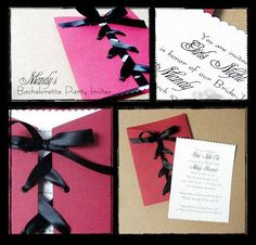Corset Invitations... Super fun to make and was perfect for a bachelorette invite!