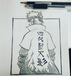 Anime Naruto, Naruto Minato, Naruto Shippuden Anime, Naruto Art, Otaku Anime, Manga Anime, Naruto Drawings Easy, Naruto Sketch Drawing, Anime Drawings Sketches