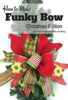 scraps of ribbon create bow christmas decor, christmas decorations, crafts, how to, seasonal holiday decor