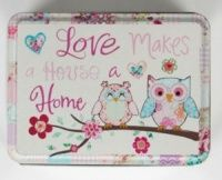 A cute vintage style tin decorated with a cute design. Ideal but important little trinkets.