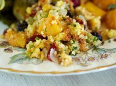 Cornbread Stuffing With Dried Fruit and Pecans - Recipes for Your Thanksgiving Feast on HGTV