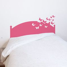 Butterfly Bed Wall Decal.